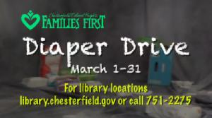 Chesterfield & Colonial Heights Families First Diaper Drive 2017
