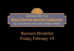 2016 Black History Month Business Breakfast feat. Aaron Montgomery